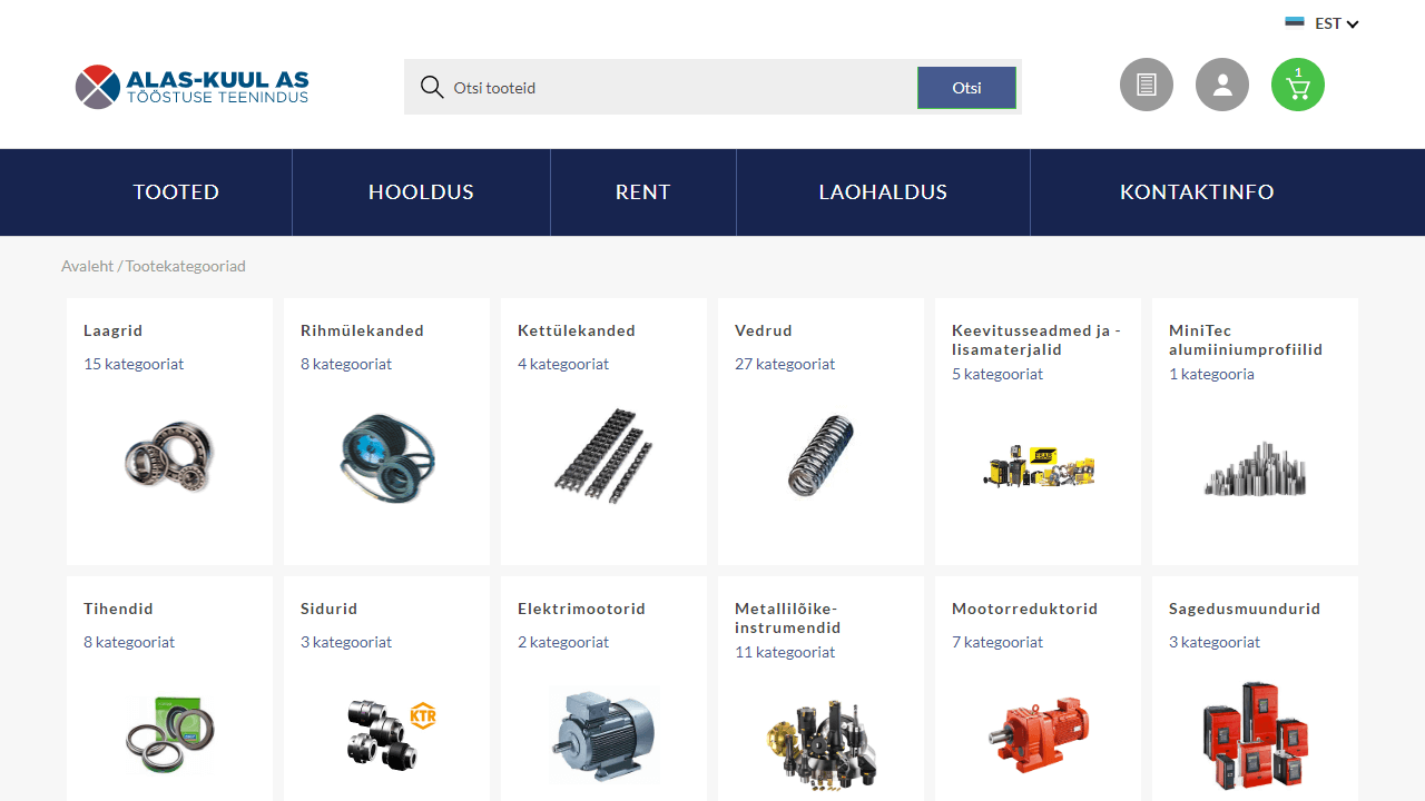 Alas-Kuul kategooria kasutajaliides